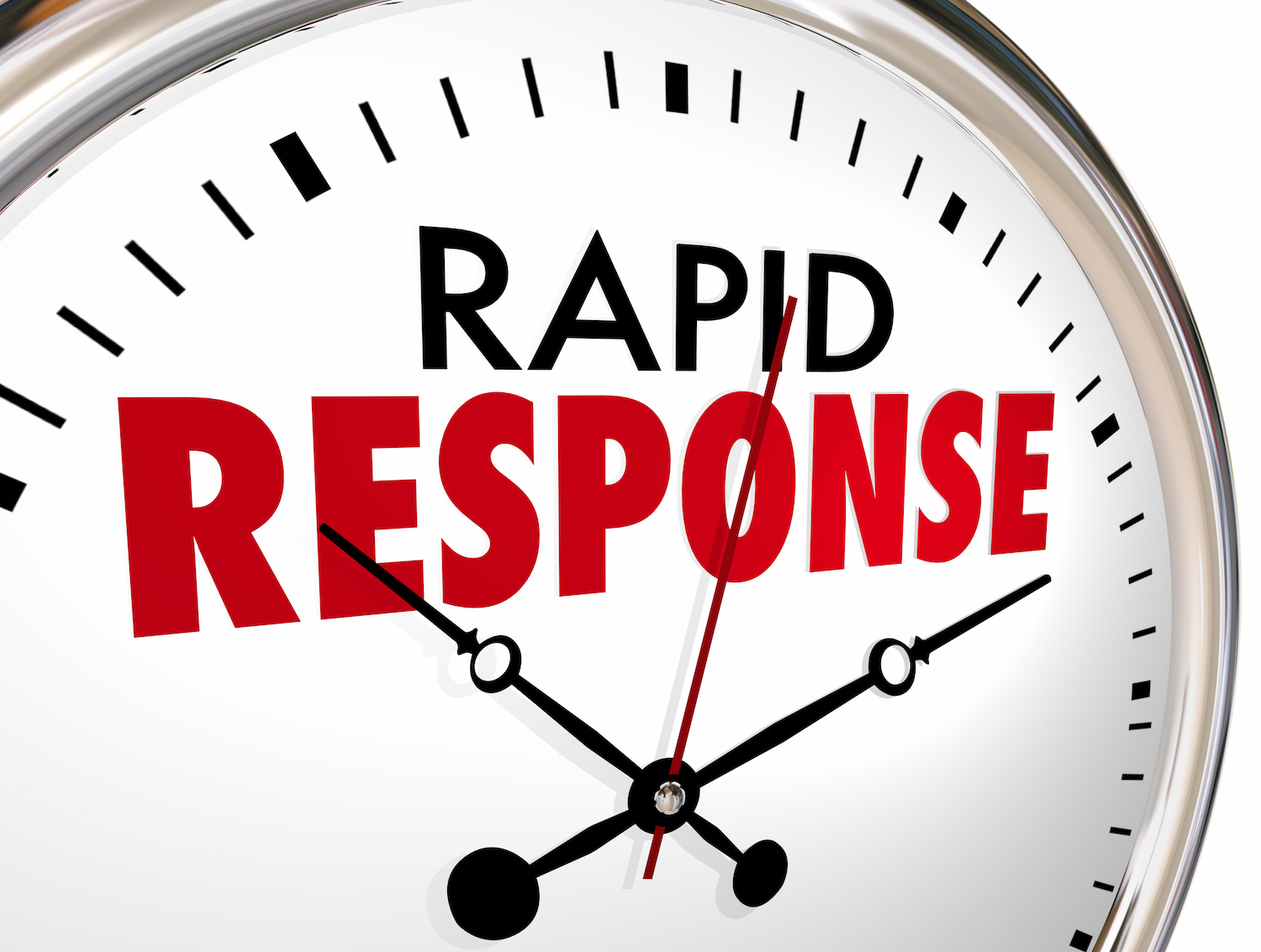 a clock showing the rapid response of Rapid Oben Repairs in Wimborne North Poole and Bournemouth